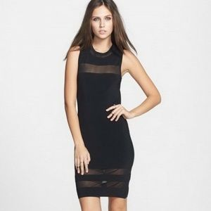 Black Sleeveless Bodycon Cocktail Dress by Leith